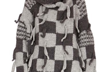 Loewe Chunky-Knit Checkerboard Sweater