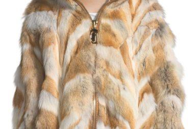 Marc Jacobs Zip-Front Coyote Fur Coat