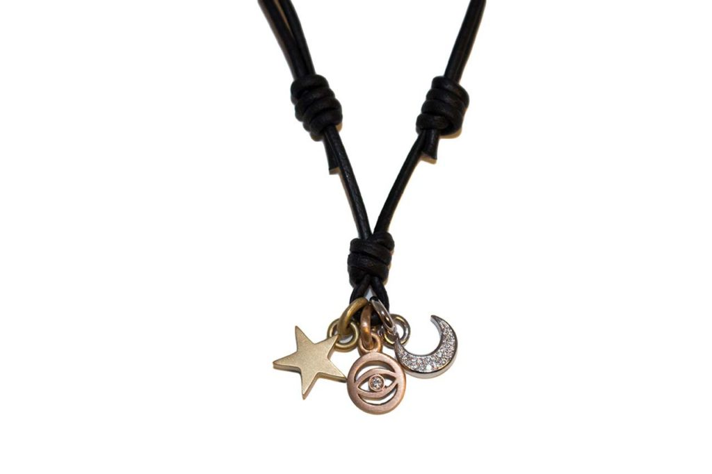 Poor Cat Designs Poor Cat Star, Evil Eye, Moon Necklace