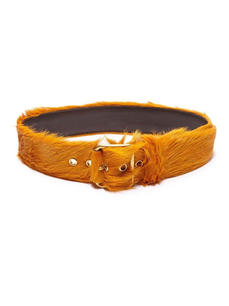 Prada Wide Calf Hair Belt