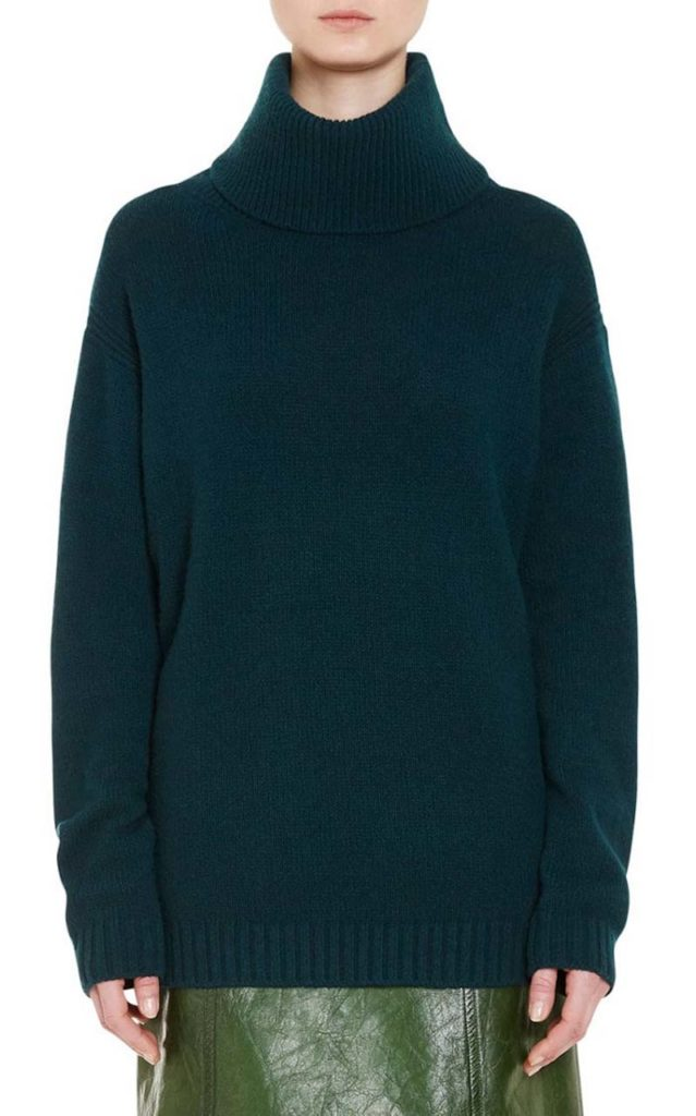 Prada Wool-Cashmere Oversized Turtleneck Sweater