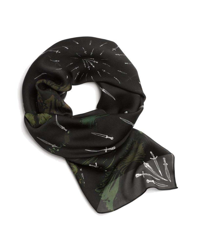 Rag & Bone Floral Camo Dagger Scarf
