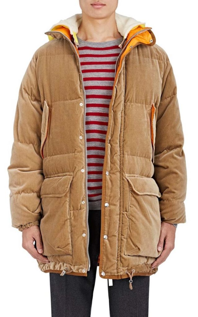 Sacai Down-Quilted Velvet Oversized Coat