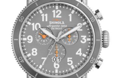 Shinola 48mm Runwell Sport Chronograph Watch, Tan_Slate_Blue