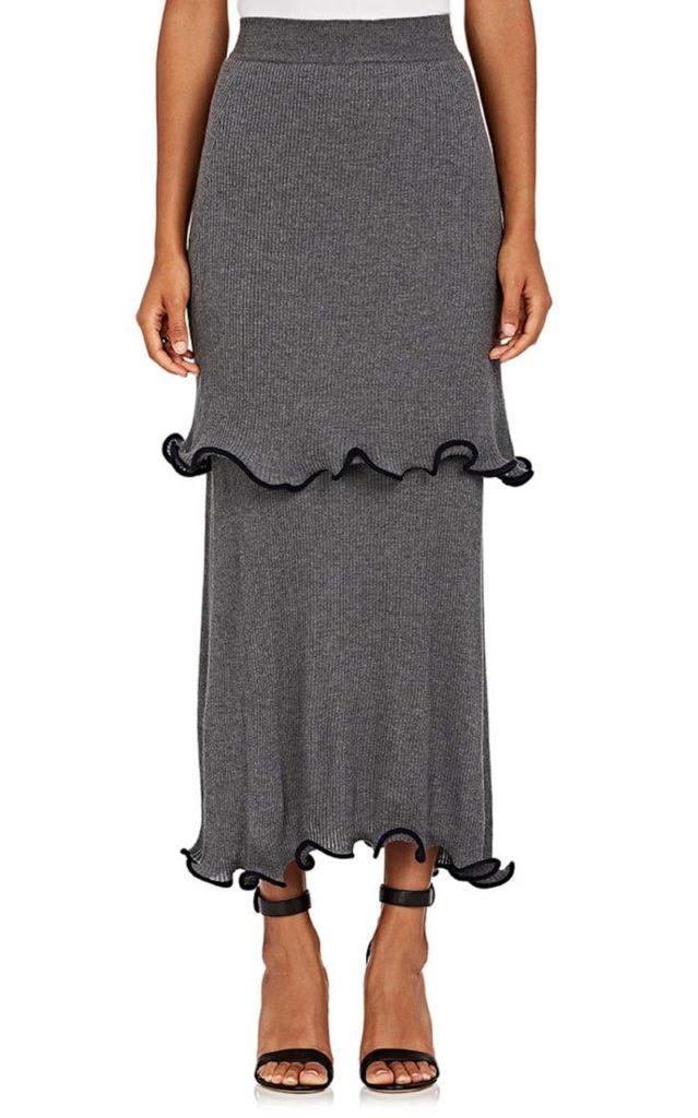 _Stella McCartney Tiered Wool Maxi Skirt