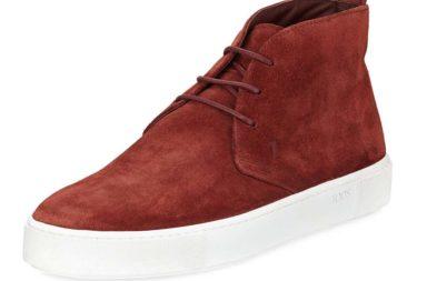 Tod's Casetta Suede High-Top Chukka Sneaker