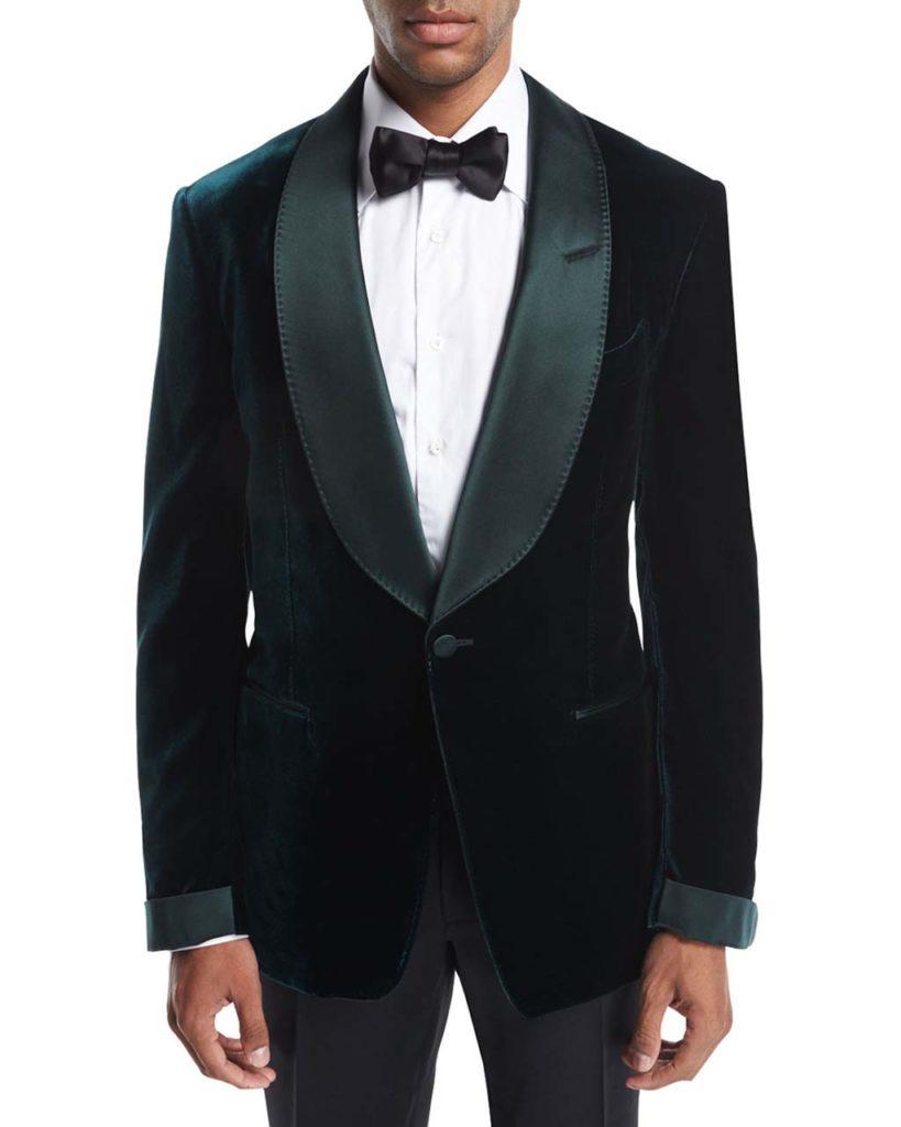 Tom Ford Shelton Base Liquid Velvet Tuxedo Jacket