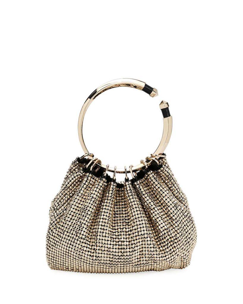 Valentino Garavani Bebop Ring Loop-Handle Clutch Bag