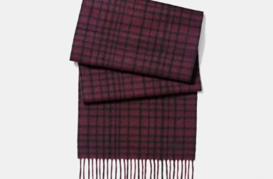 coach plaid scarf