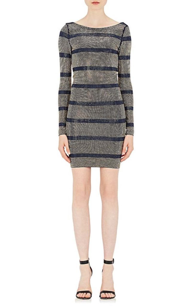 Balmain Crystal-Embellished Knit Cocktail Dress