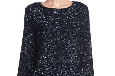 Lafayette 148 New York Nessa Shimmering Sequin Blouse
