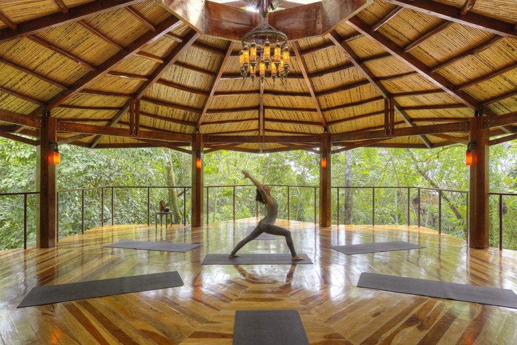 Nayara Springs-Woman in Yoga Pavilion 2