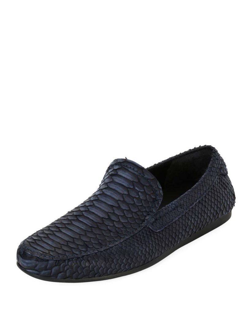 Salvatore Ferragamo Coast 4 Python Slip-On Loafer_1