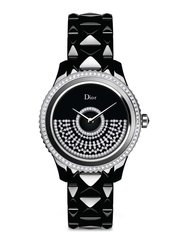 Dior VIII Grand Bal Diamond, Black Mother-Of-Pearl, Black Ceramic & Stainless Steel Automatic Bracelet Watch