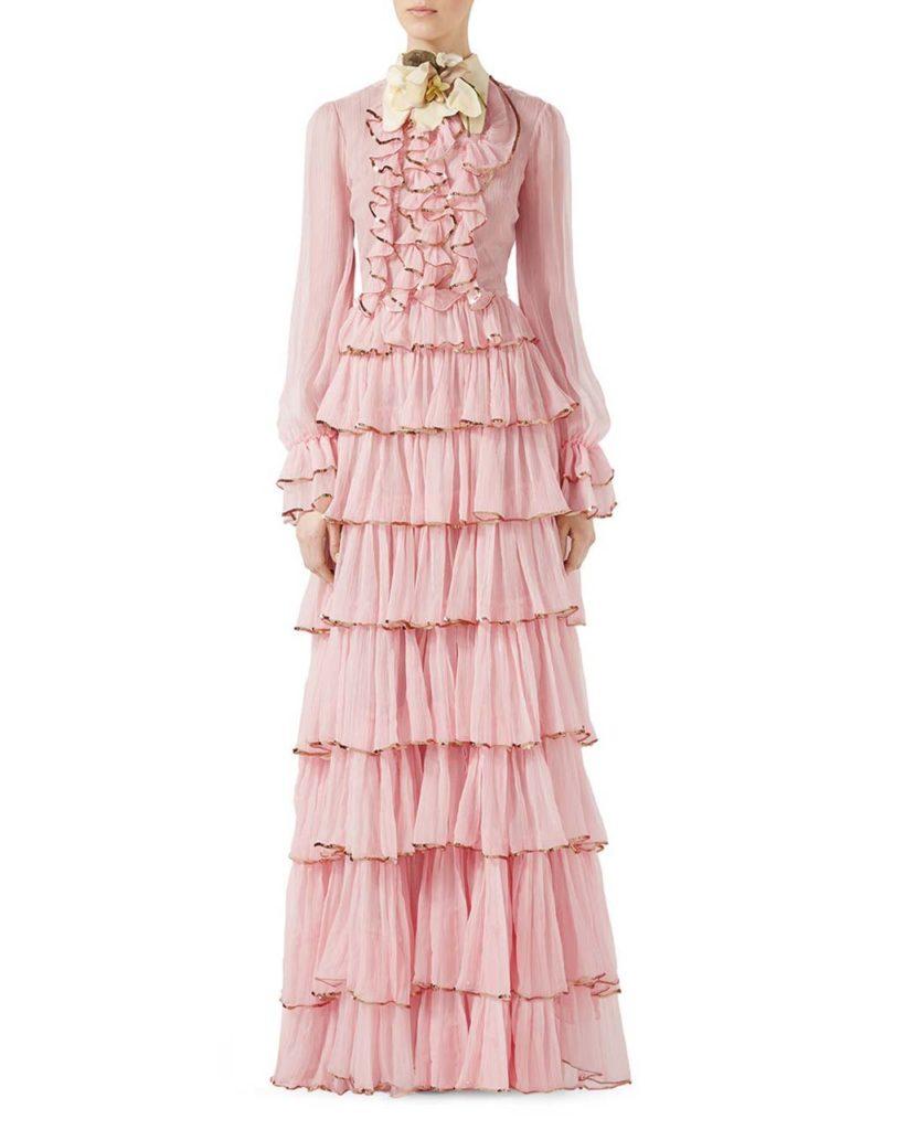 Gucci Chiffon Crepe Silk Gown_1