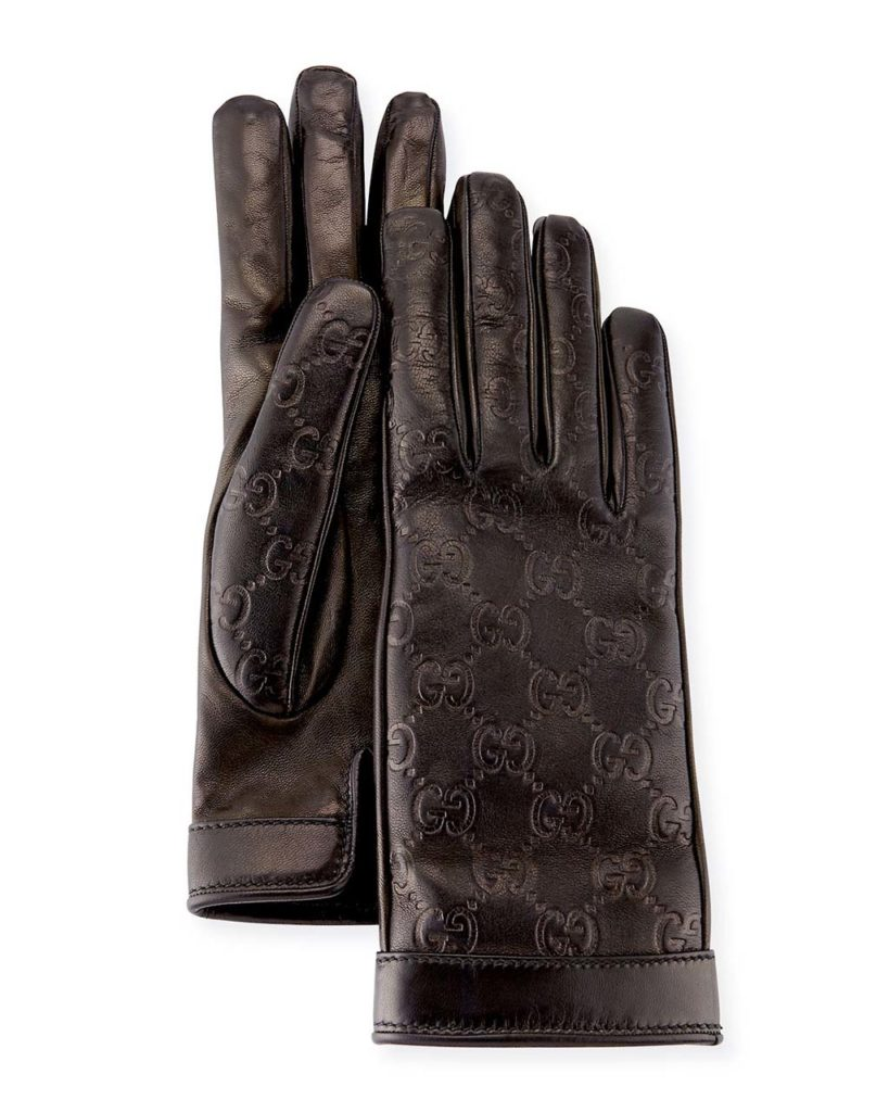 Gucci Signature Leather Gloves_1