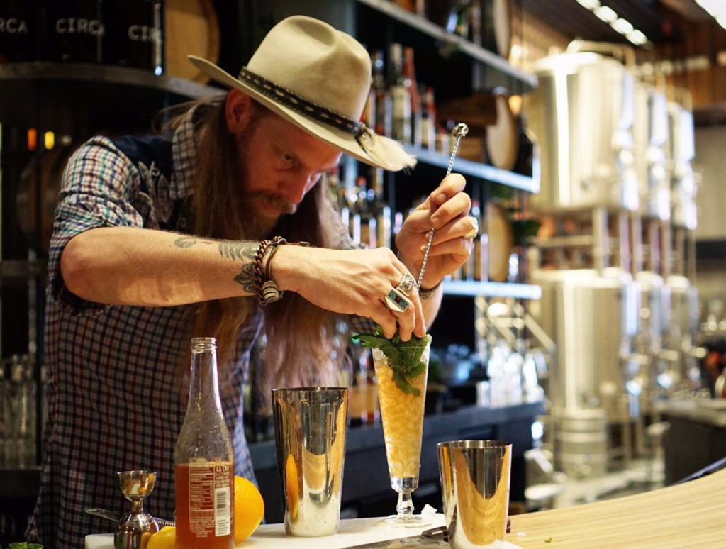 Headlining this week's barrel-aged cocktail event is Damon Boelte, who will be making a Balsamic #Negroni in