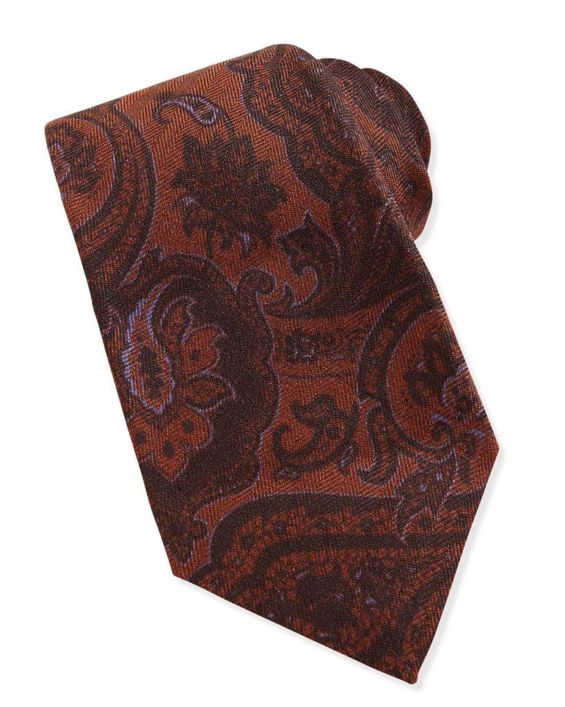 Kiton Paisley Wool_Silk Tie