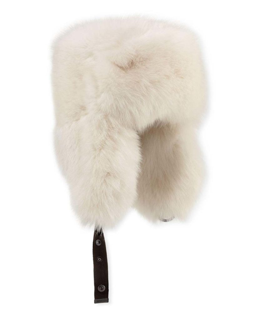Moncler Fox-Fur Aviator Hat