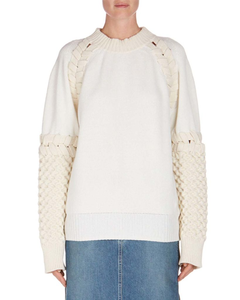 Sacai Whipstitched Knit Sweater