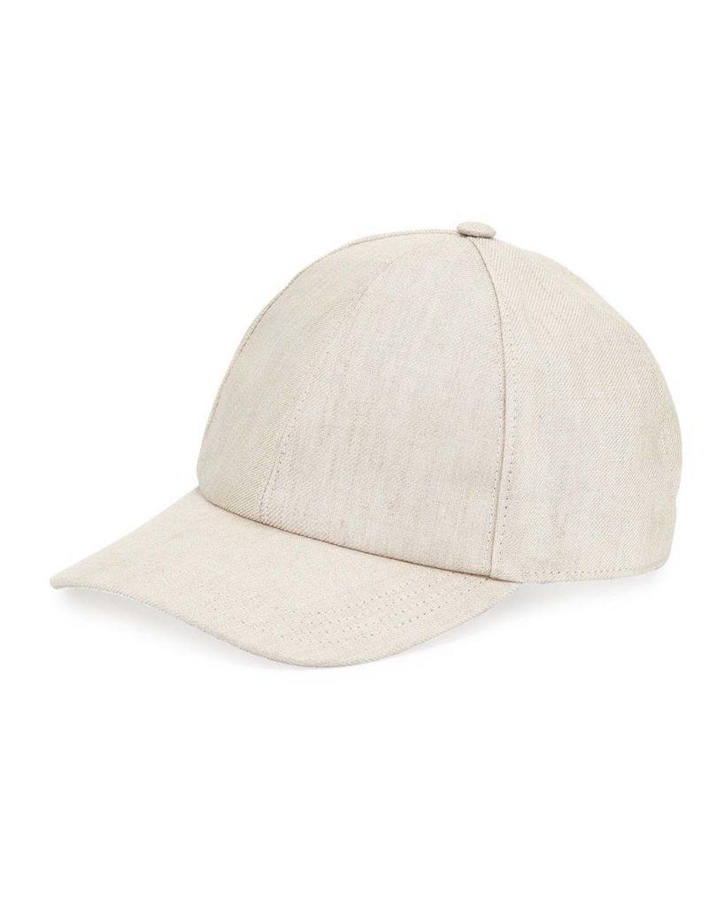 Brunello Cucinelli Solid Linen Baseball Cap