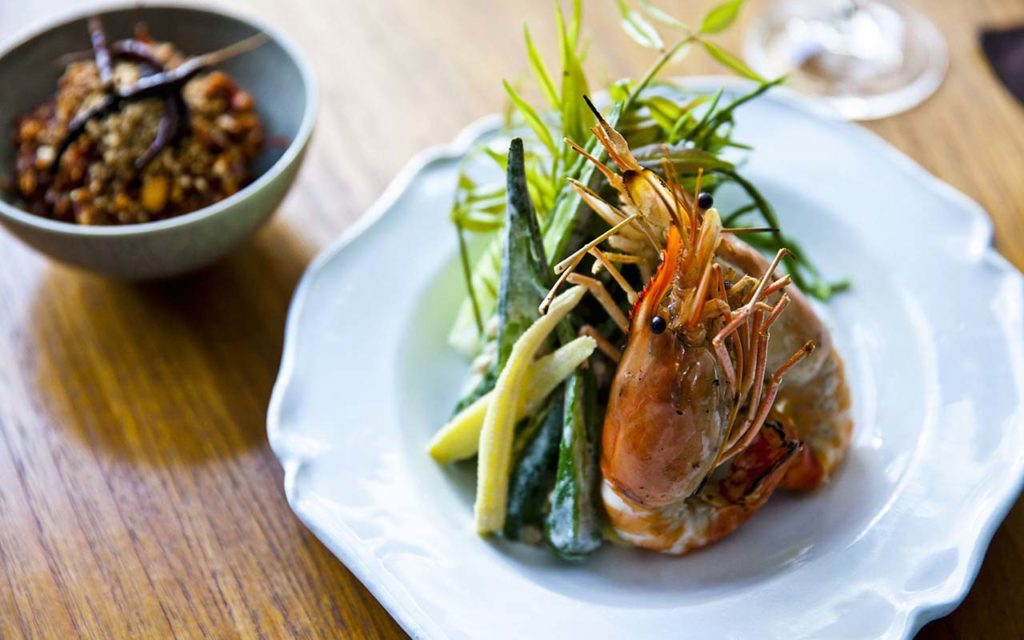 DINE AND DRINK - Nahm - Peanut Relish with Grilled Prawns 1