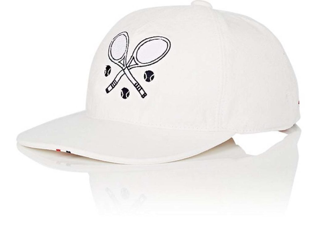 Thom Browne Tennis-Embroidered Baseball Cap