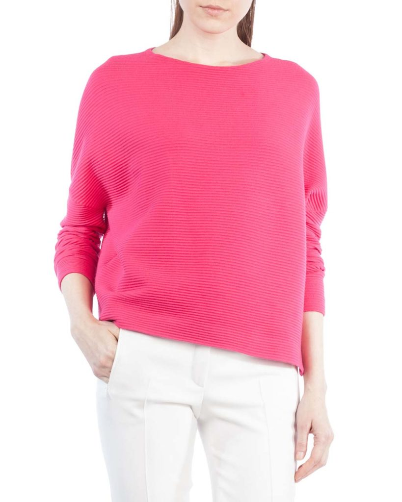 Akris punto Ribbed Stretch-Knit Pullover Top