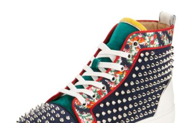 Christian Louboutin Louis Orlato Studded High-Top Sneaker_1