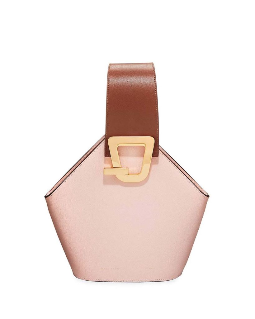 Danse Lente Mini Johnny Leather Hexagon Shoulder Bag_1