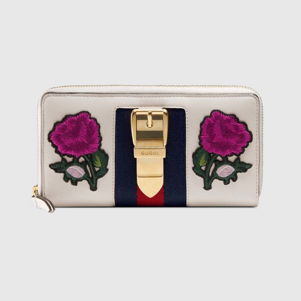 Gucci Sylvie Embroidered Wallet_1