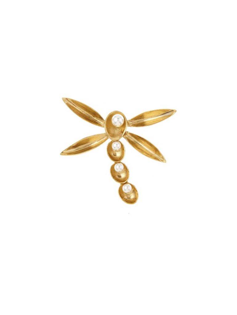 Oscar De Larenta Pearl Shell Brooch