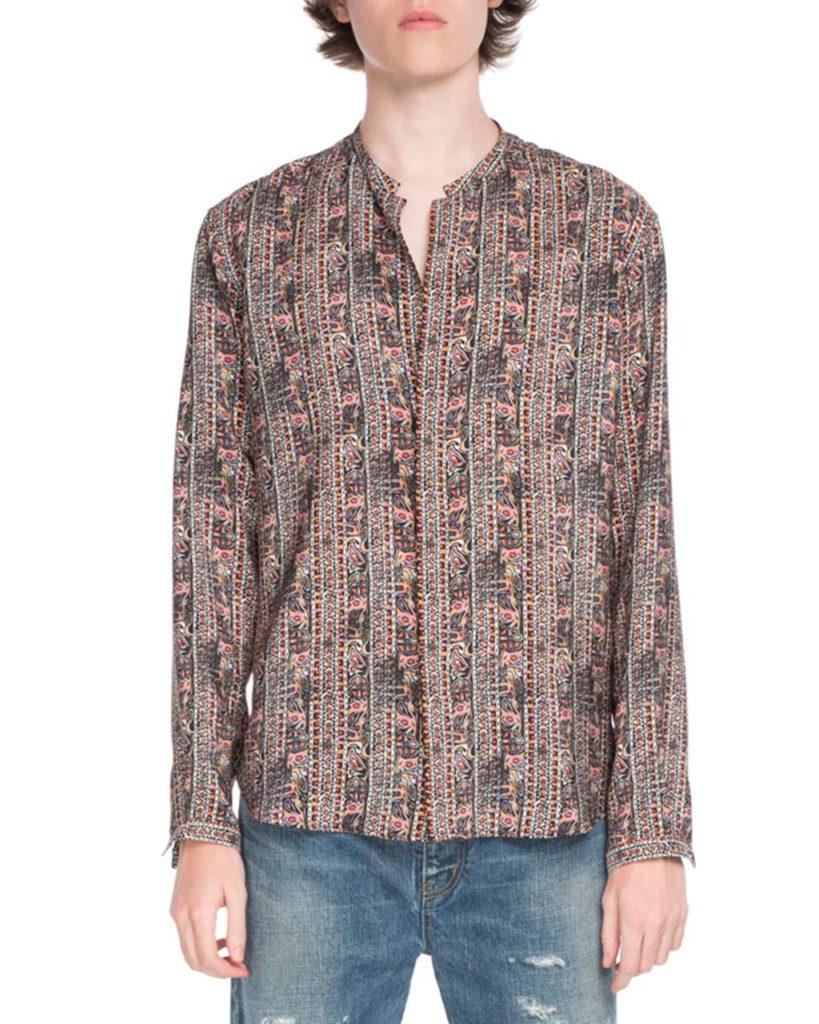 Saint Laurent Graphic Stripes Long-Sleeve Shirt