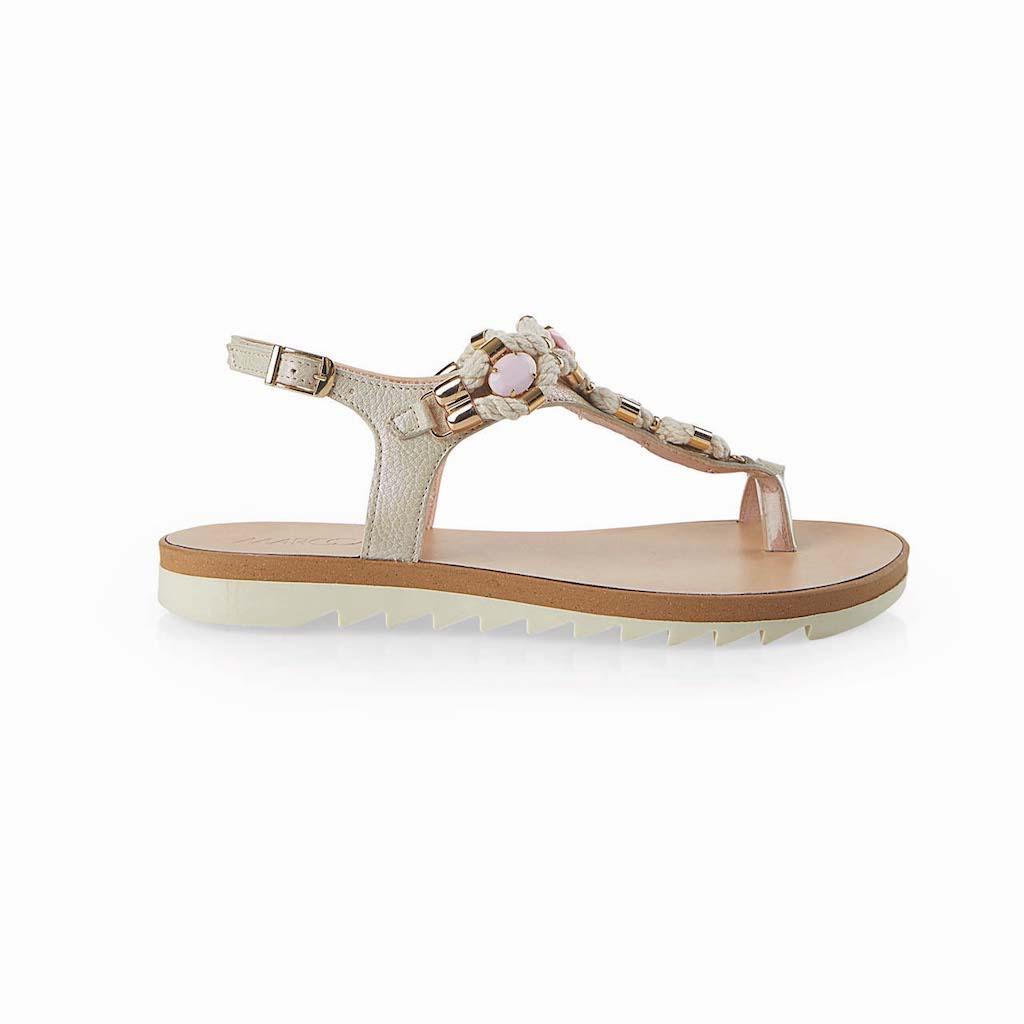 Sandal in Metallic Leather $310