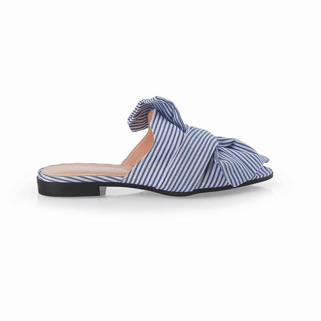 Striped Slipper Shoes $450