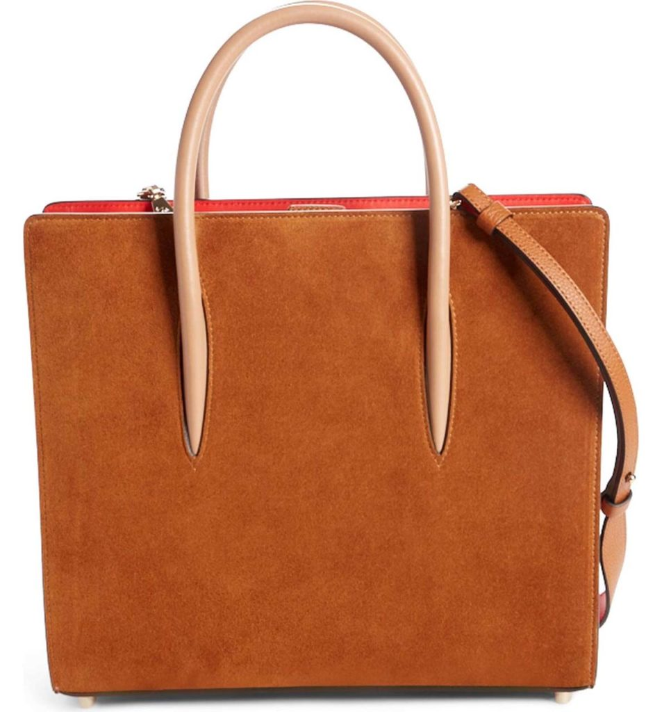 Christian Louboutin Medium Paloma Loubiwoodstock V Suede & Leather Tote