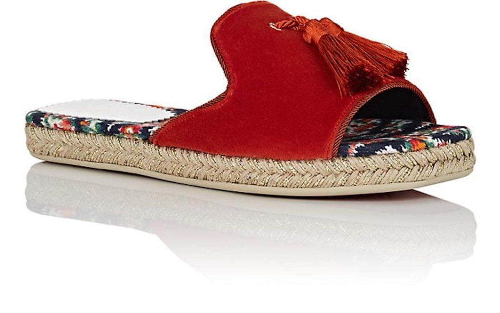Christian Louboutin Pacha Velvet Slide Sandals 2