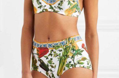 Dolce & Gabbana Printed Bandeau Bikini_1