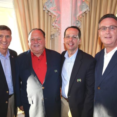 Eagle Oaks Honor Day - Lieutenant General Michael Flynn, Eagle Oaks Chairman Domenic Gatto, Committee Chair Joseph Cary, Distinguished Guest Brian F McCauley