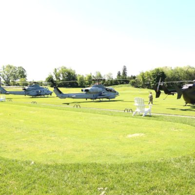 Eagle Oaks Honor Day - Military Helicopters On Golf Course