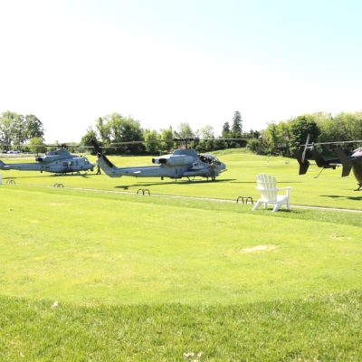 Eagle Oaks Honor Day - Military Helicopters On Golf Course2