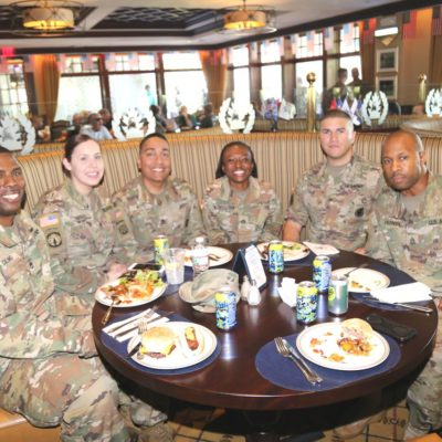 Eagle Oaks Honor Day - U.S Army Active Duty Members at Lunch