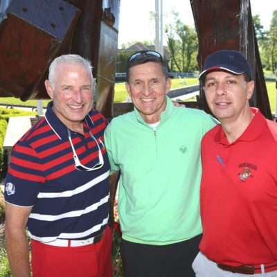 Eagle Oaks Honor Day - West Point Parachute Team - Lieutenant Guest + General Michael Flynn + Committee Chair Joseph Cary
