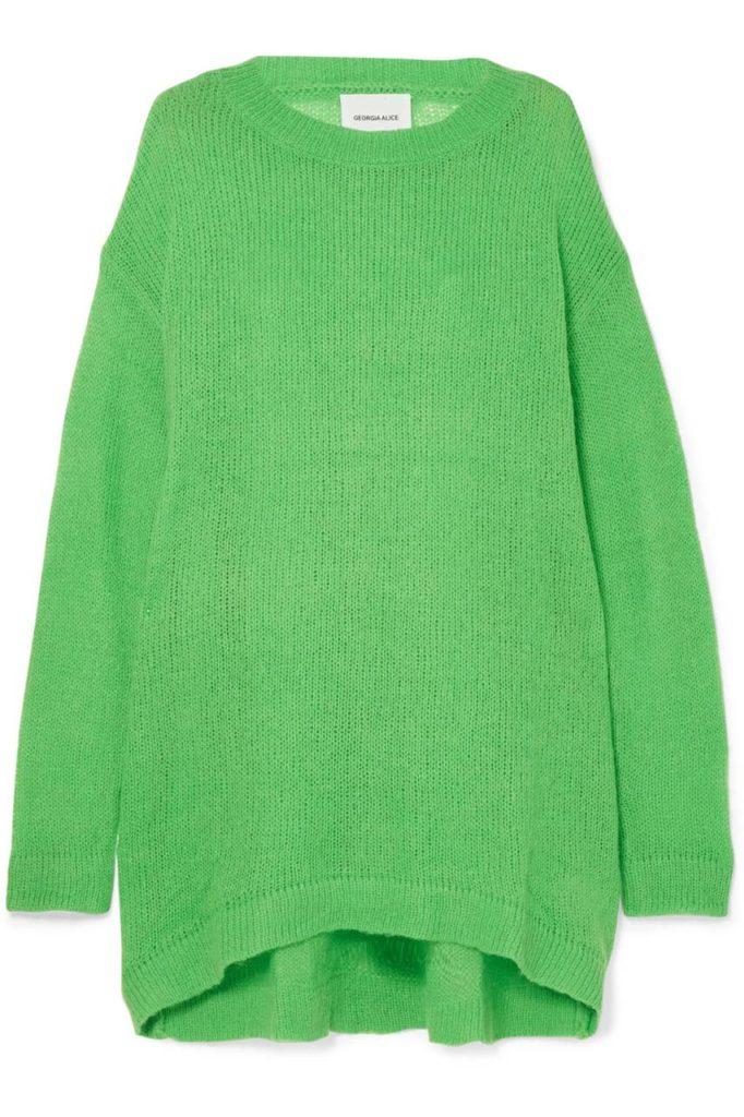 GEORGIA ALICE Slime oversized open-knit sweater $390