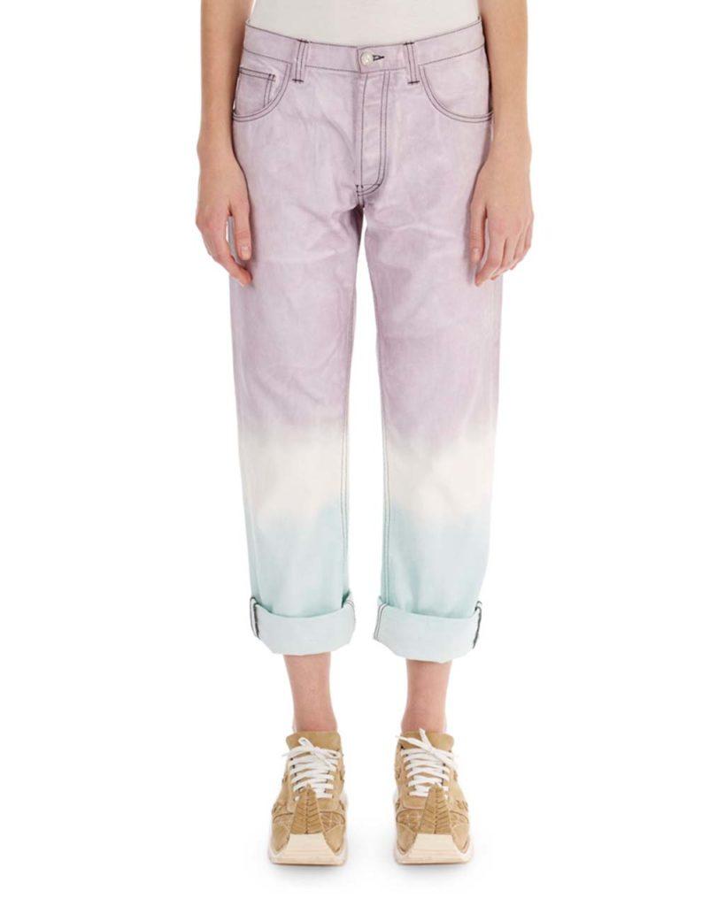 Loewe Cuffed Tie-Dye Jeans