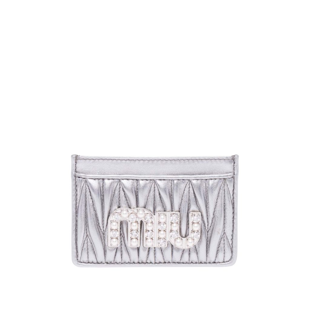 Matelasse Nappa Leather Card $310