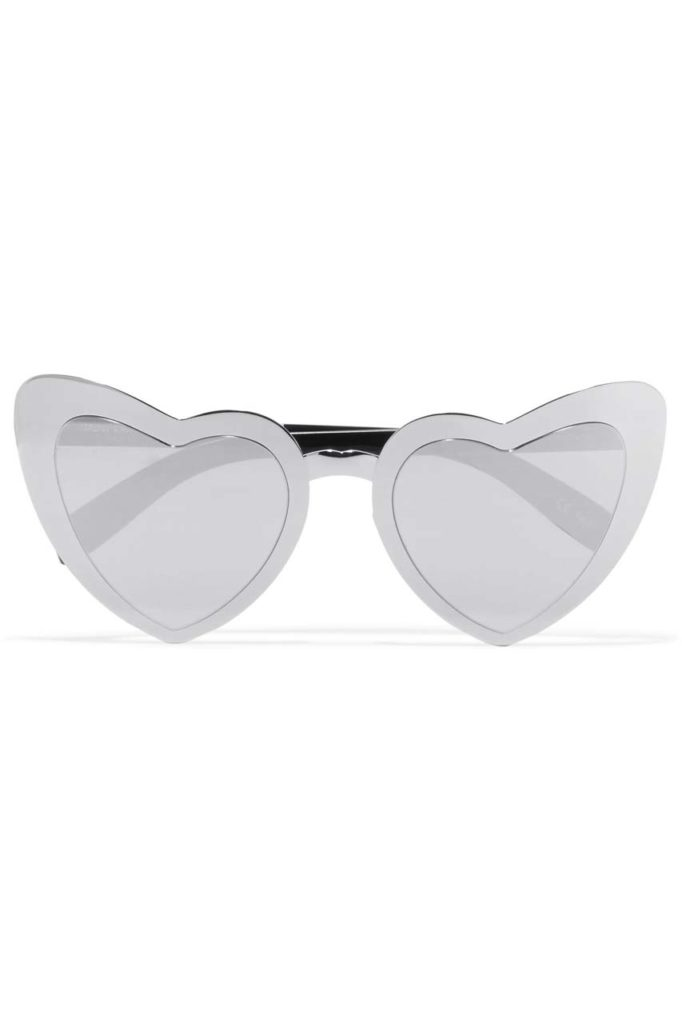 Saint Laurent LouLous Heart Sunglasses $490