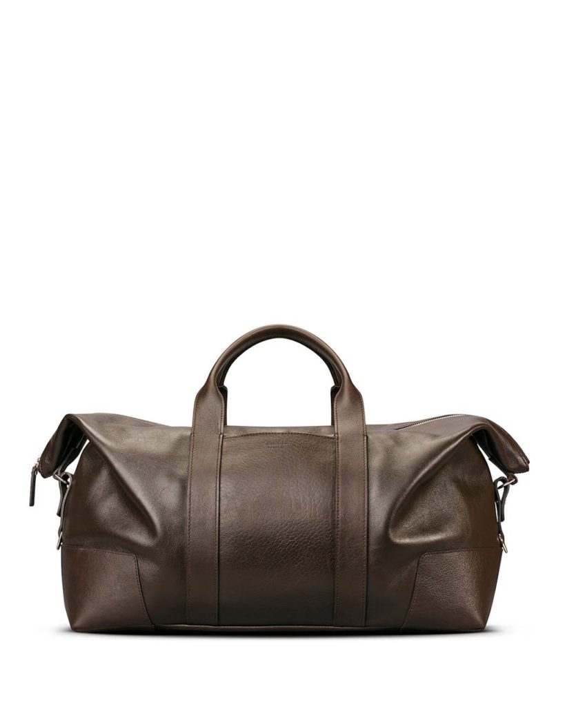 Shinola Men's Large Leather Carryall Duffel Bag