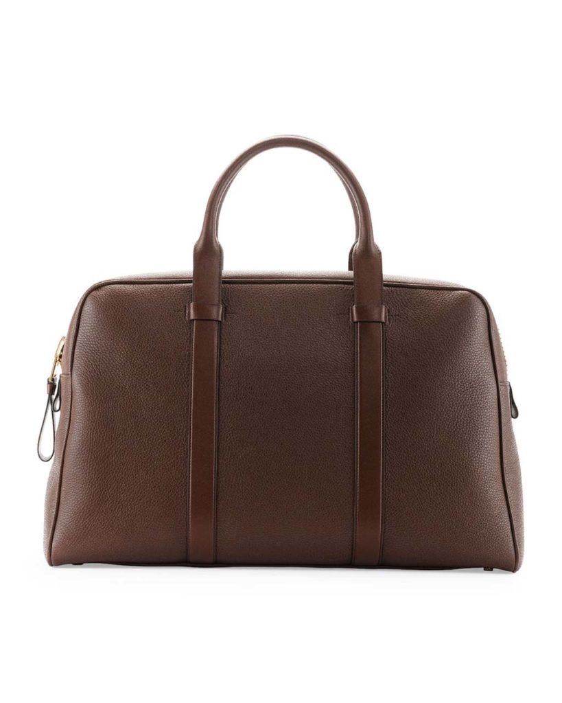 TOM FORD Buckley Men's Zip Small Duffel Bag, Light Brown