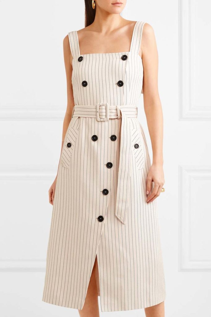altuzarra-beige-Audrey-Button-detailed-Ottoman-Midi-Dress_1